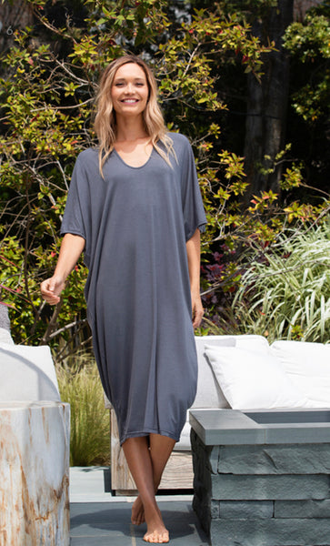 Barefoot Dreams LUXE MILK JERSEY® CAFTAN in Graphite