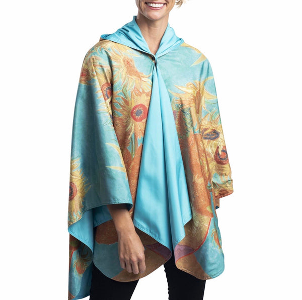 FINE ART RAINCAPER - VAN GOGH SUNFLOWERS TRAVEL CAPE