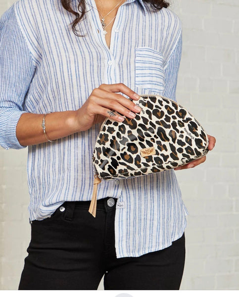 Consuela Large Cosmetic bag in Mona Brown Leopard