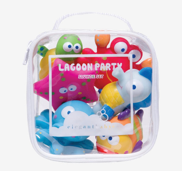 Elegant Baby Lagoon Party Squirtie Bath Toys