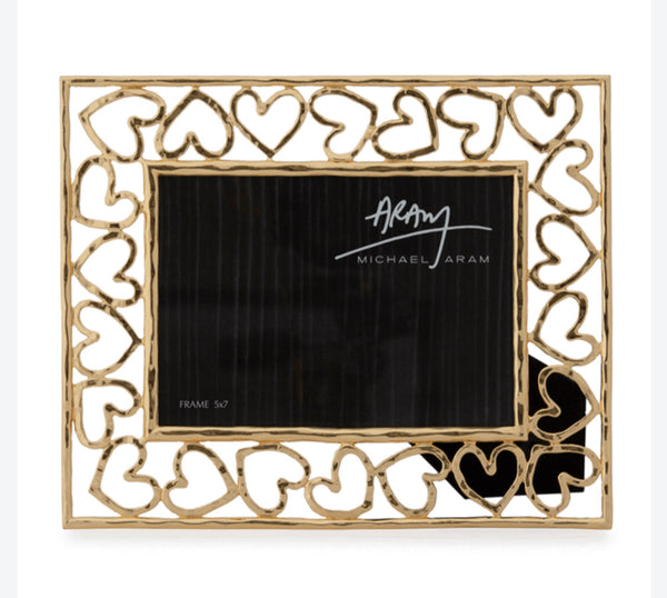 Michael Aram Heart Picture Frame Gold Tone