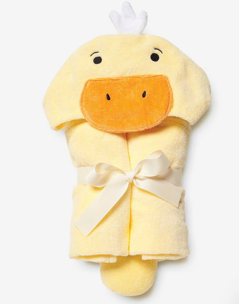 Elegant Baby Yellow Duckie Hooded Baby Bath Towel
