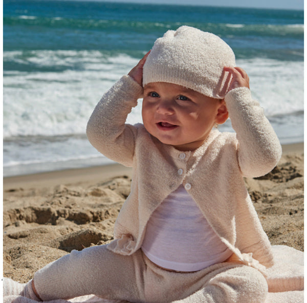 Barefoot Dreams COZYCHIC LITE® INFANT BEANIE in Pearl