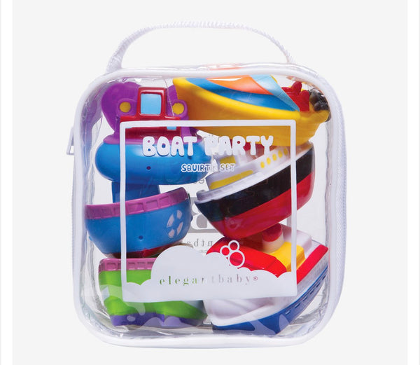 Elegant Baby Boat Party Squirtie Bath Toys