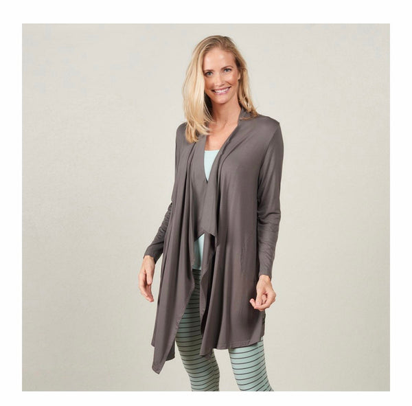 Faceplant Dreams Bamboo Swing Jacket in Earl Grey