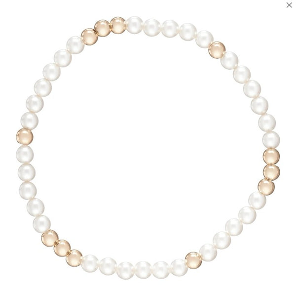 enewton Worthy Pattern 4mm Pearl and Bead Bracelet