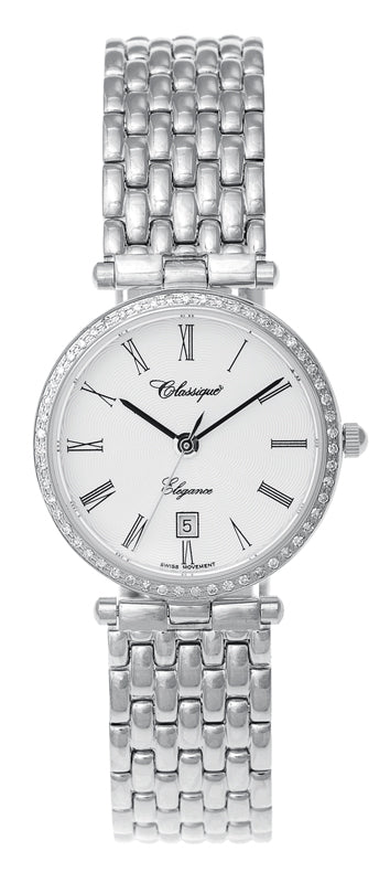 Diamond Bezel Stainless Steel Watch