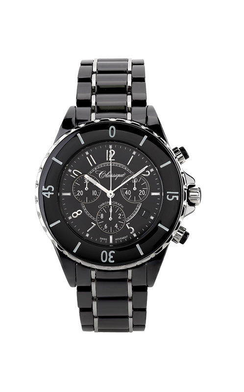 Chronograph Ceramic Swiss Quartz Watch