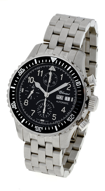 Chronograph 42mm Swiss Stainless Steel Automatic Watch