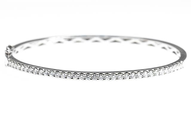 9ct Gold 1ct Diamond Bangle