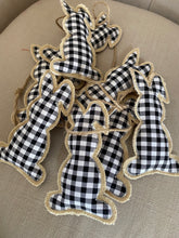 Load image into Gallery viewer, Gingham/ Buffalo Check Rabbit Easter Bunny Garland