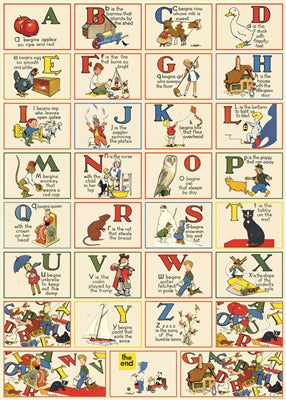 ABC's Vintage Reproduction Poster