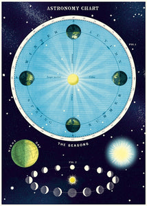 Vintage Astronomy Chart Reproduction Poster