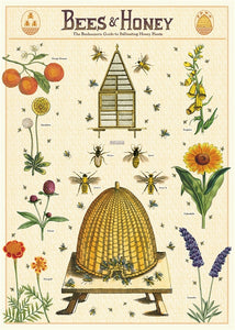 Bees & Honey Vintage Reproduction Poster