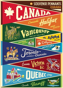 Canada Pennants Vintage Reproduction Poster