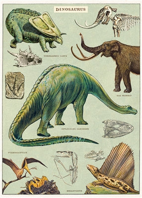 Dinosaurs  Vintage Reproduction Poster