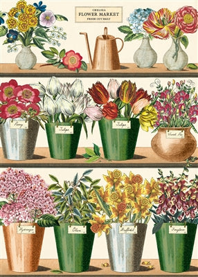 Flower Market Vintage Reproduction Poster