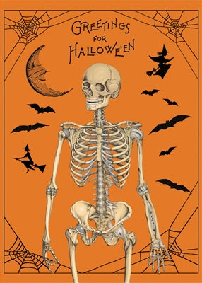 Halloween Greetings  Vintage Reproduction Poster