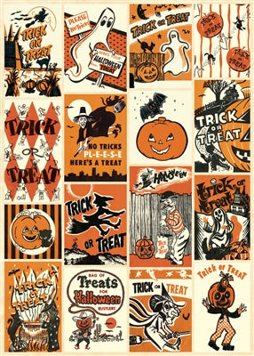 Trick or Treat Vintage Reproduction Poster