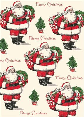 Merry Christmas Santa Vintage Reproduction Poster