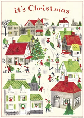 It's Christmas Vintage Reproduction Poster