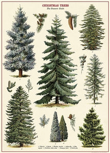 Christmas Trees Vintage Reproduction Poster