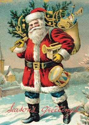 Santa Claus Vintage Reproduction Poster