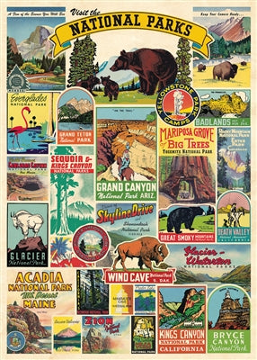 National Parks Vintage Reproduction Poster
