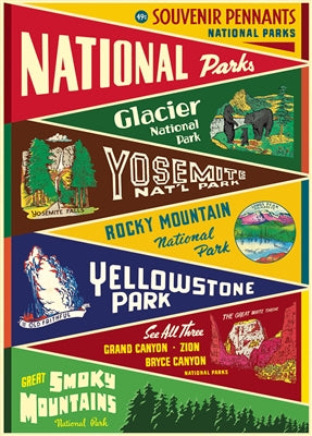 National Parks Pennants Vintage Reproduction Poster