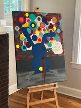 "Load image into Gallery viewer, ""Thoughts on the wall"" Original Painting 48X36"