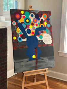 """Thoughts on the wall"" Original Painting 48X36"