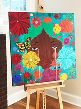 "Load image into Gallery viewer, ""Flowerchild"" Original Painting 36X36"