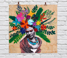 "Load image into Gallery viewer, ""HeadBloom"" Frida Mini Print 8x8"