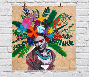 """HeadBloom"" Frida Mini Print 8x8"