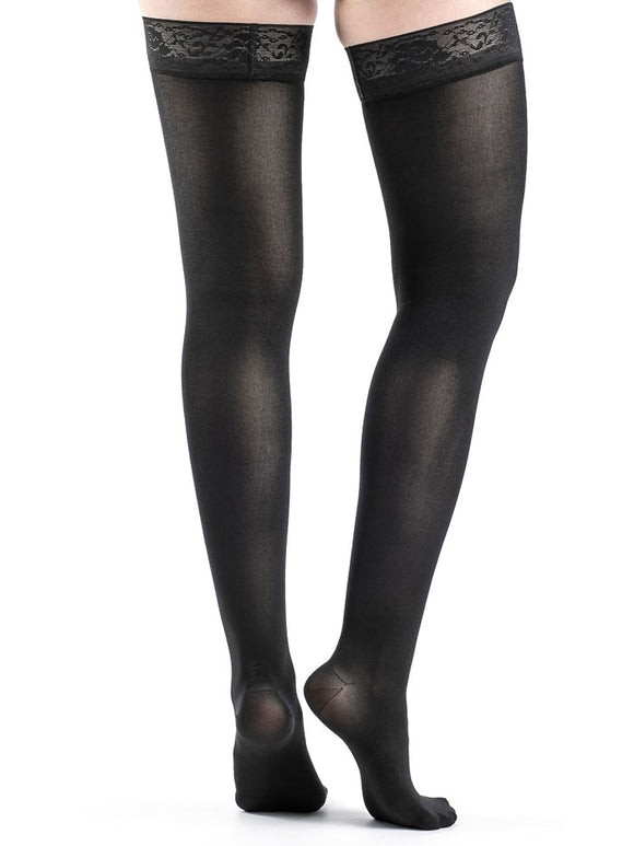 Thigh High with Anti-Slip (Soft Opaque) - Cuisse avec bande anti-glisse (Opaque doux)