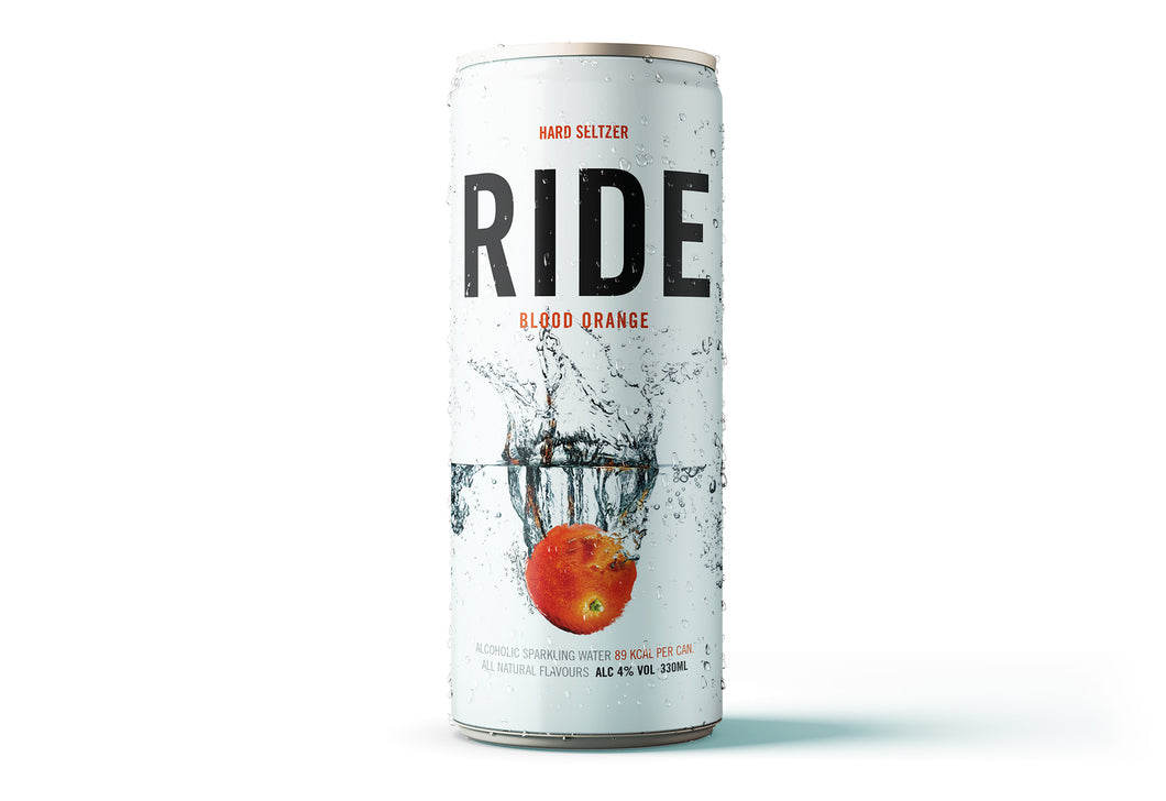 Case of 12 x 330ml Ride Blood Orange 4% - Hard Seltzer
