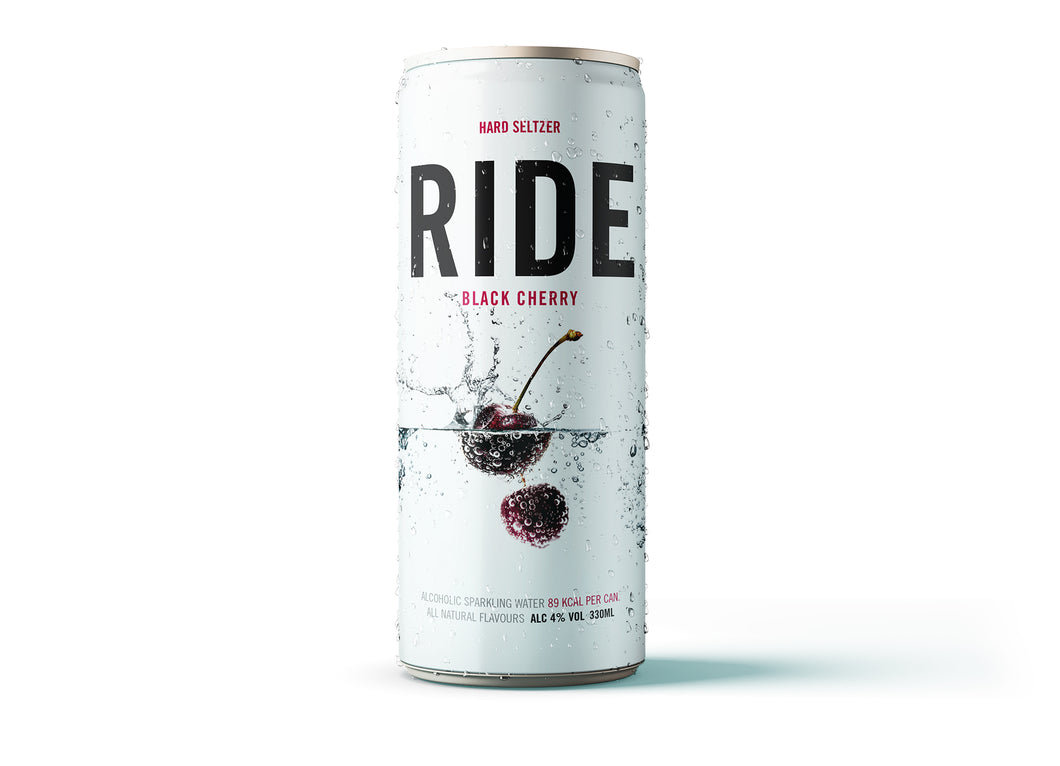 Case of 12 x 330ml Ride Black Cherry 4% - Hard Seltzer