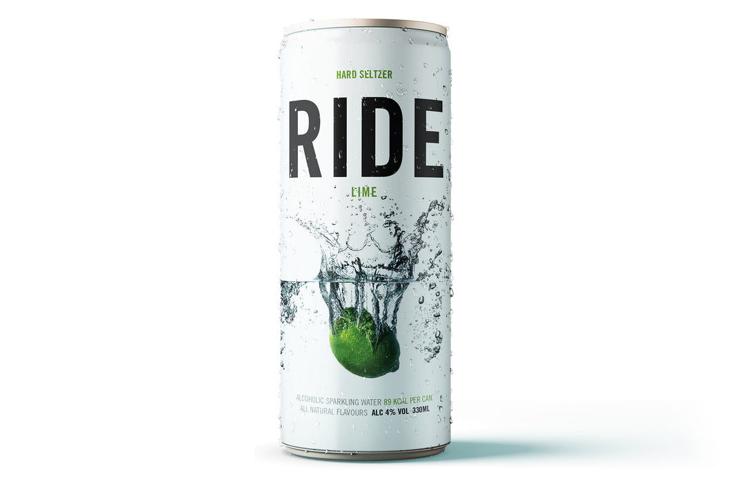 Case of 12 x 330ml Ride Persian Lime 4% - Hard Seltzer