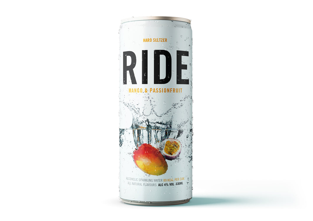 Case of 12 x 330ml Ride Mango & Passionfruit 4% - Hard Seltzer