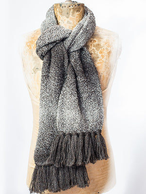 100% wool boucle scarf, natural undyed