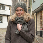 British wool cable hat