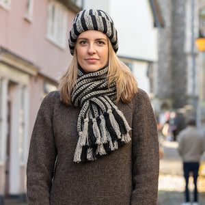 Striped Hat and Scarf