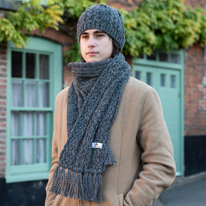 cable hat and scarf