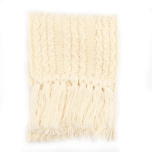 British wool cable scarf