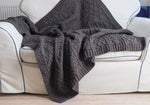 100% wool patterned wool throw