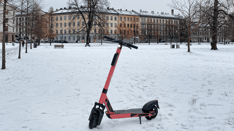 wintery e-scooter city