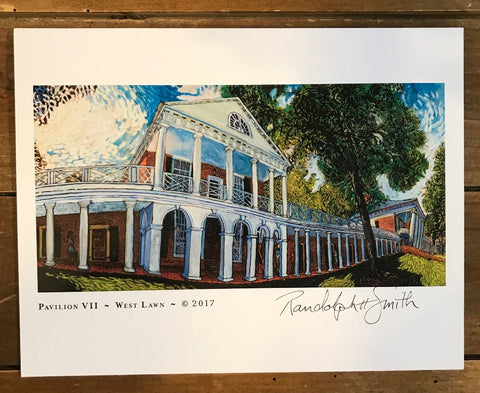 UVA Pavilion VII Print by Randy Smith