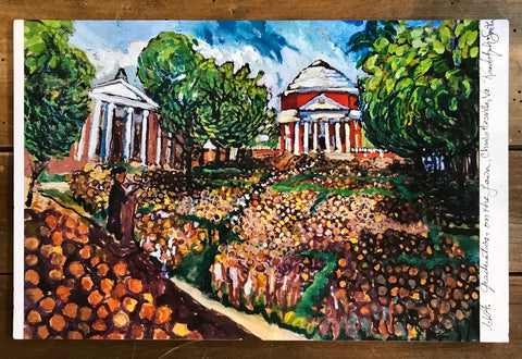 UVA Lawn Graduation Print by Randy Smith
