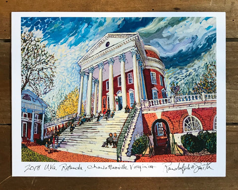 2018 UVA Rotunda Print by Randy Smith