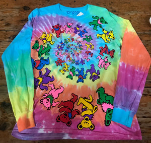 Tie-Dye Dancing Bears Long-Sleeve Tee